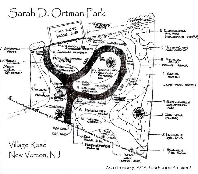 The New Vernon Garden Club helps maintain The Sarah D. Ortman Park